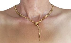 Tiffany & Co Snake Serpent Necklace 18k Yellow Gold 49.5cm 71.3g