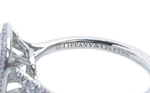 Tiffany & Co 1.44tcw Triple XXX VS2 Soleste Diamond Engagement Ring SZ J