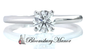 De Beers 0.41ct H/SI1 Round Brilliant Cut Diamond Engagement Ring