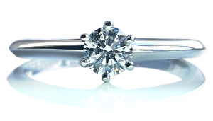 Tiffany & Co. 0.38ct E/VS1 Round Brilliant Cut Diamond Engagement Ring