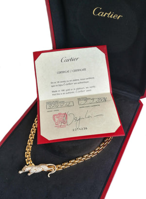 Cartier Panthere Necklace with Certificate Box