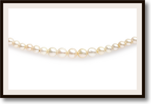 Certified Natural Saltwater Pearl Necklace 5.8-1.8mm 18inch