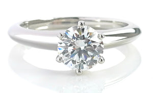 Tiffany & Co. 0.89ct E/VVS2 Triple-X Round Brilliant Diamond Engagement Ring