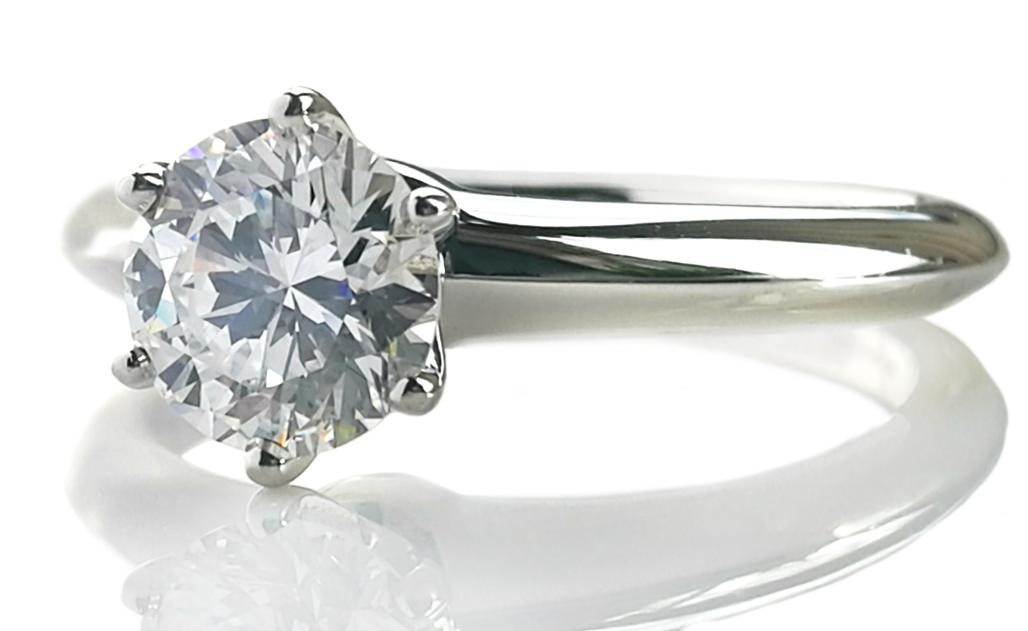 ba344e04b Tiffany & Co. 0.89ct E/VVS2 Triple-X Round Brilliant Diamond Engagement Ring