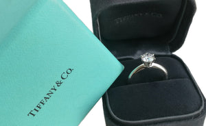 Tiffany & Co 0.89ct E/VVS2 Triple-X Round Brilliant Cut Diamond Engagement Ring