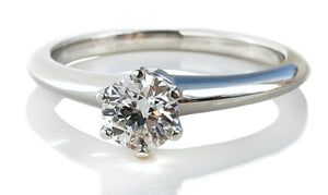 Tiffany & Co. 0.42ct H/VVS1 Round Brilliant Cut Diamond Engagement Ring