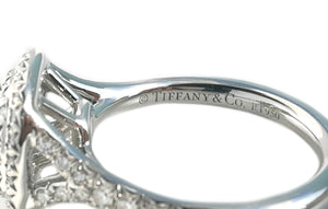 Tiffany & Co. 0.77tcw G/VS1 Soleste Double Halo Diamond Engagement Ring