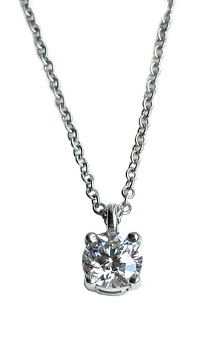 Tiffany & Co. 0.40ct G/VS2 Round Brilliant Diamond Pendant / Necklace