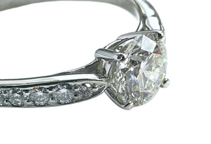 Tiffany & Co Harmony I/VS1 .88tcw Round Brilliant Diamond Engagement Ring