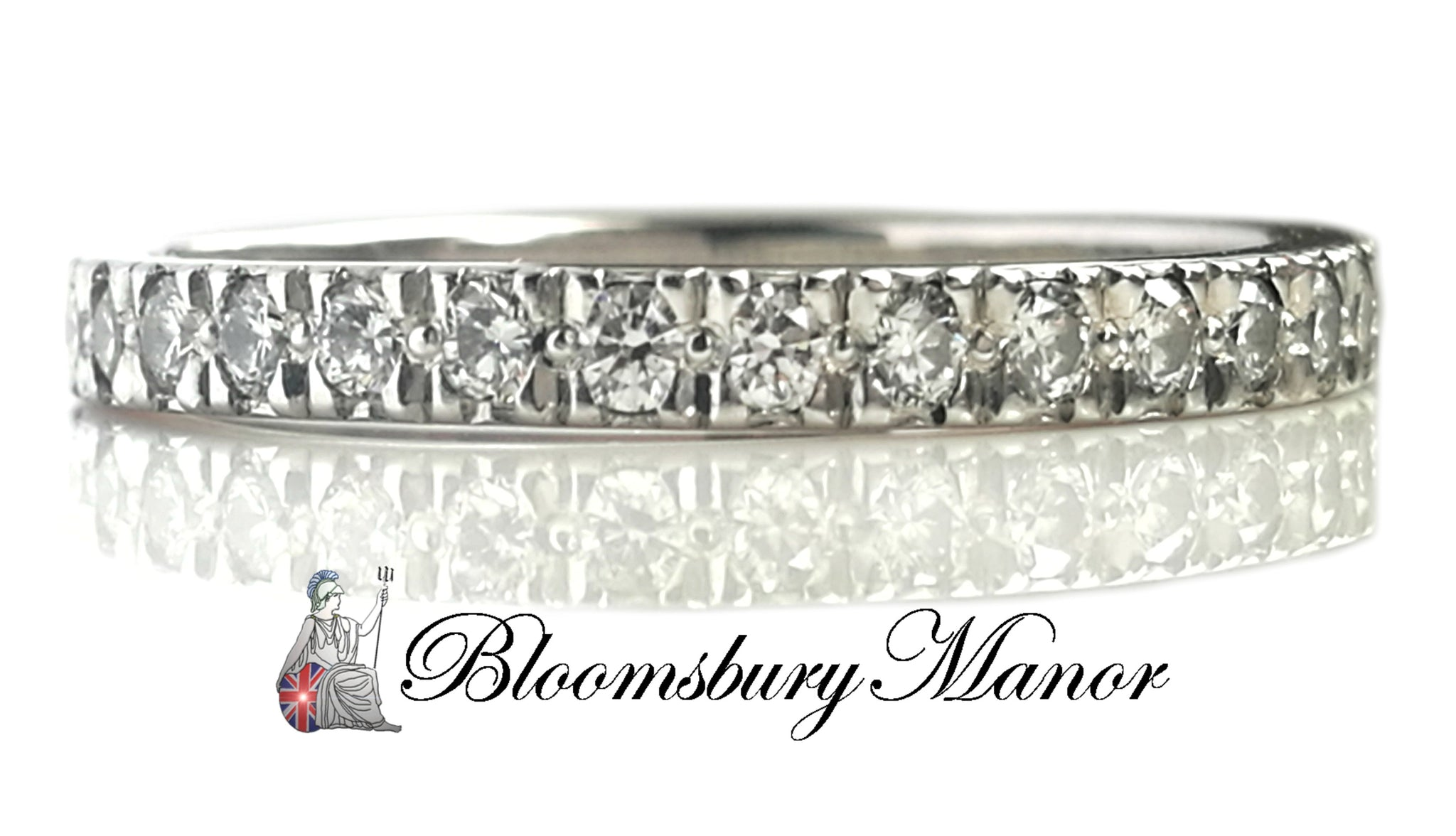 c881b98c7402b Tiffany & Co .23ct 2mm Novo Diamond Eternity Band Wedding Ring SZ I1/2