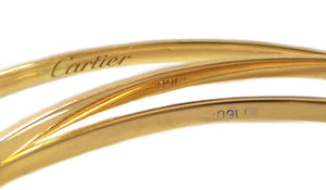Vintage 1980s Cartier Trinity 18k Yellow Gold Bracelet 24.7grams