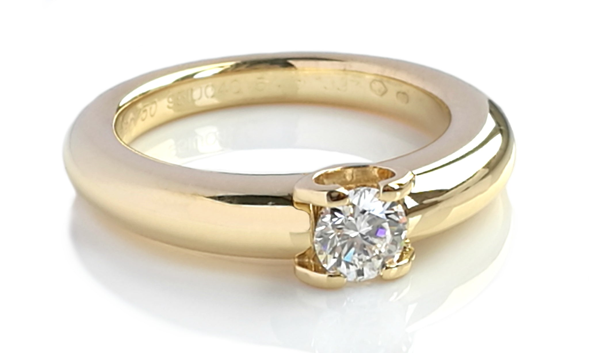 Cartier 0.40ct G/VS Round Brilliant Diamond Engagement Ring in 18k Yellow Gold
