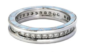 Bulgari B.Zero1 Diamond & 18k White Gold Ring, Sz 55 / N½
