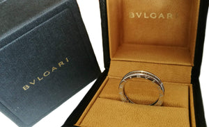 Bulgari Bvlgari B.Zero1 Diamond 18k White Gold Ring SZ 55 Sz N 1/2