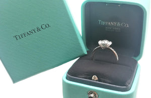 Tiffany & Co. 0.83tcw G/VS2 Round Brilliant Diamond Ribbon Engagement Ring
