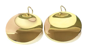 Tiffany & Co Elsa Peretti 18k Yellow Gold Large Round Disc Earrings 30mm