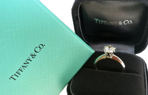 Tiffany & Co 1.07ct H/VS2 Round Brilliant Diamond Engagement Ring RRP £15500