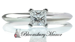 Tiffany & Co Princess Cut .30ct F/VS1 Diamond Engagement Ring SZ L RRP £2500