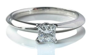 Tiffany & Co. 0.30ct F/VS1 Princess Cut Diamond Engagement Ring