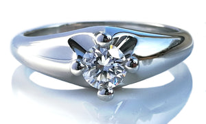 Bulgari Corona 0.30ct F/VVS2 Round Brilliant Engagement Ring