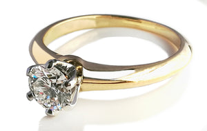 Tiffany & Co. 0.50ct H/VVS2 Round Brilliant 18k Yellow Gold Engagement Ring