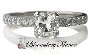 Tiffany & Co .63tcw E/VVS1 Novo Diamond Engagement Ring L