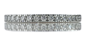 Tiffany & Co Novo 2mm .36ct Wedding Full Diamond Eternity Ring SZ L