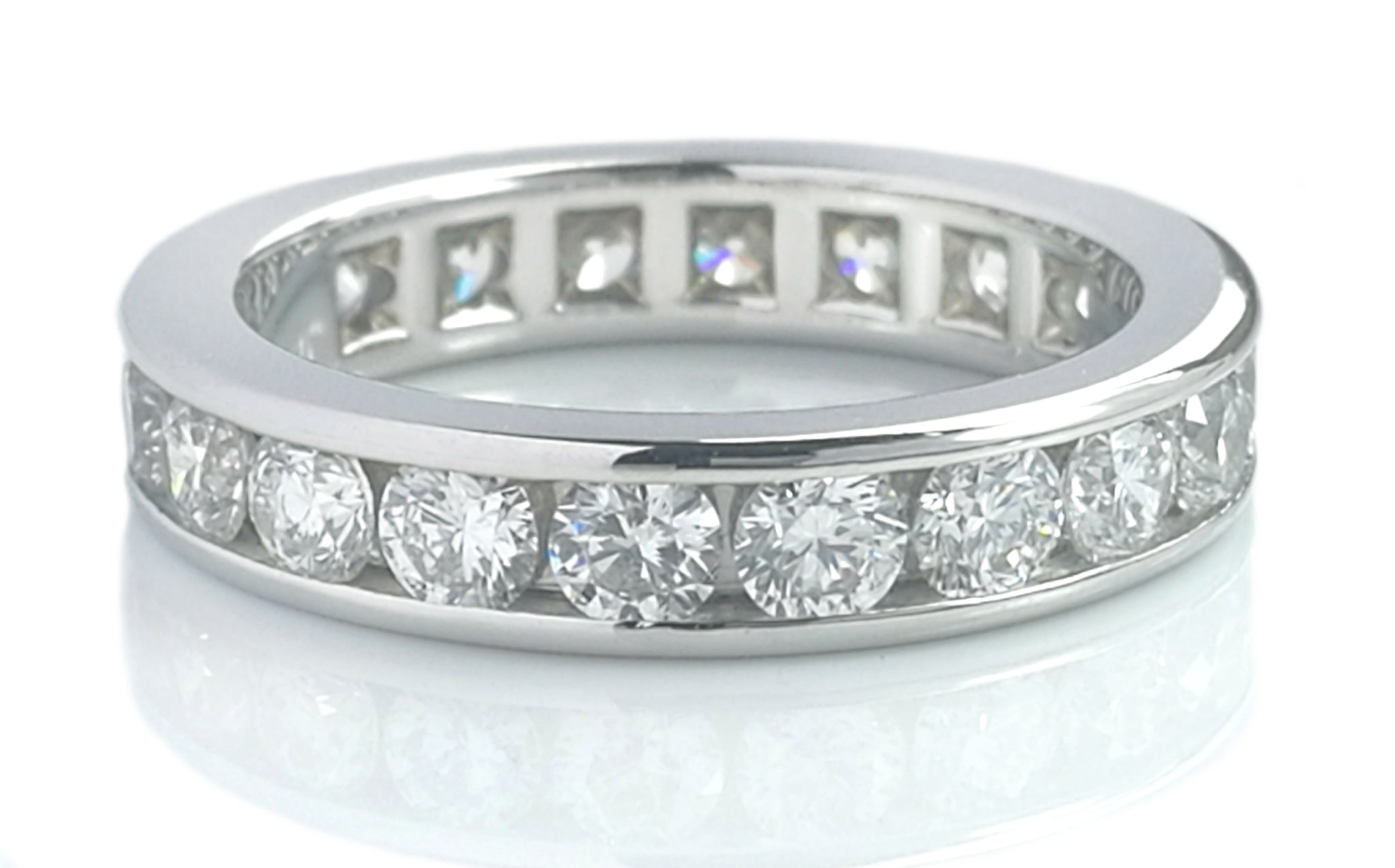 Tiffany & Co. 1.80ct 3.9mm Full Circle Channel-Set Diamond Wedding Band, Sz L