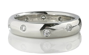 Tiffany & Co. Etoile Diamond & Platinum Wedding Band Ring