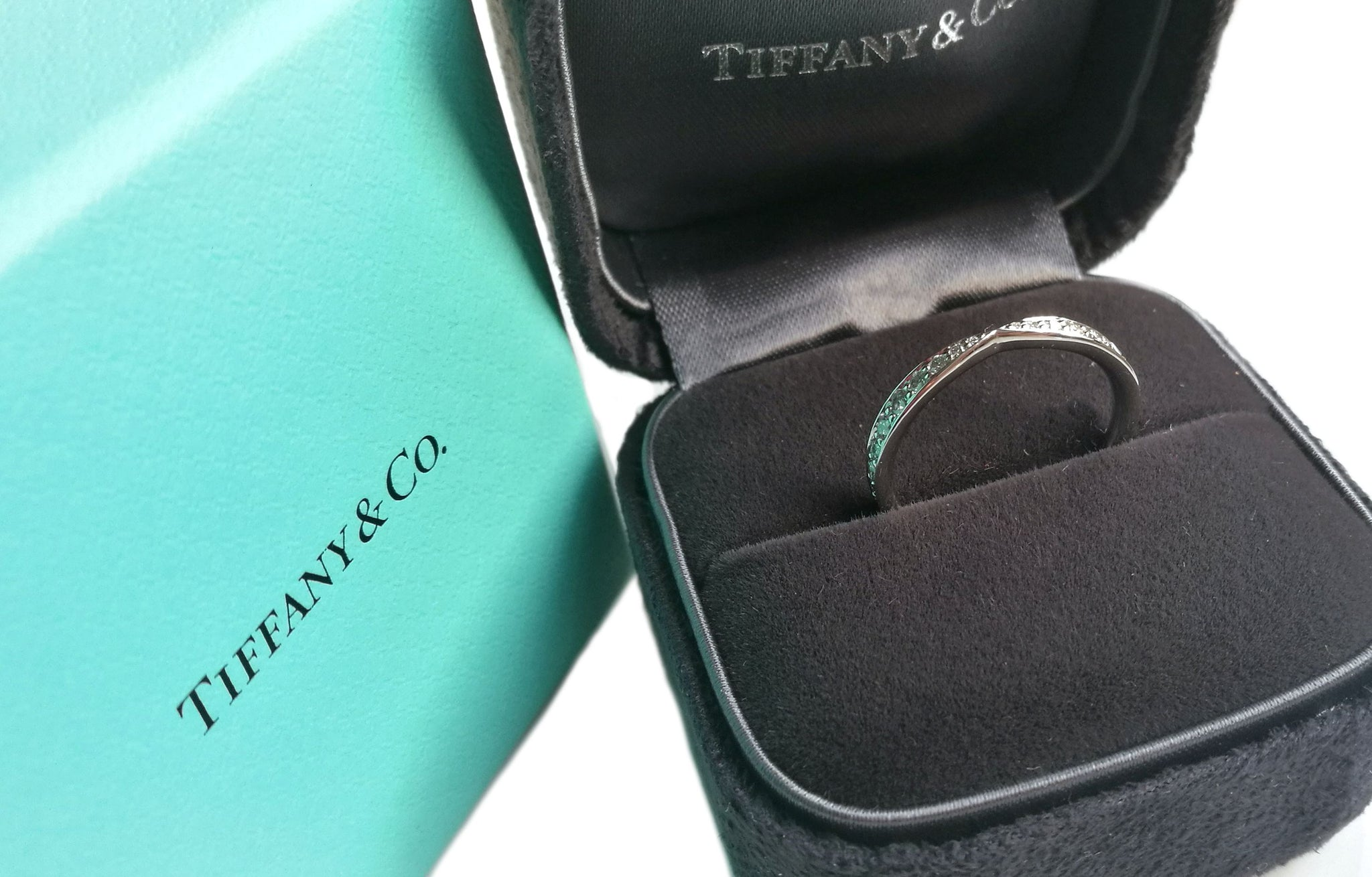 Tiffany & Co. Harmony 0.23ct Diamond & Platinum Wedding Ring
