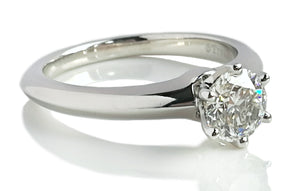 Tiffany & Co. 0.70ct I/VVS2 Triple XXX Round Brilliant Diamond Engagement Ring