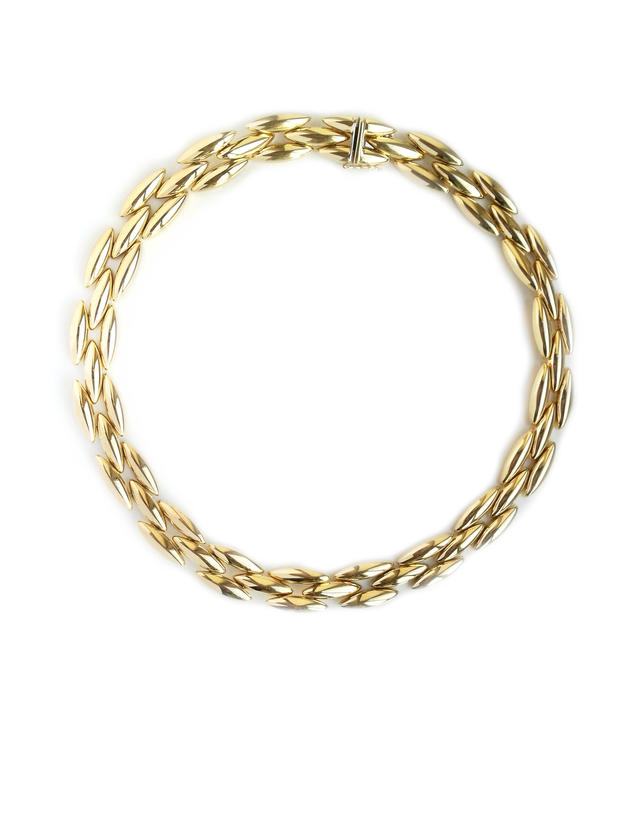 Vintage 1990s Cartier Gentiane Necklace in 18k Yellow Gold, 15½ inch / 40 cm