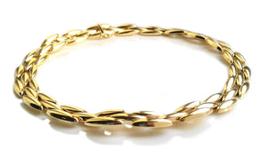 Vintage Cartier 1990s Gentiane 18k Yellow Gold Necklace 15.5in 40 cm