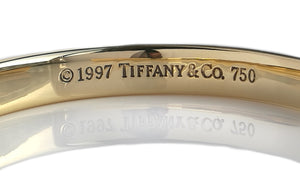 Tiffany & Co 1837 18k Yellow Gold Cuff Bangle Bracelet