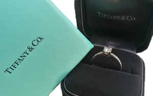 Tiffany & Co. 0.49tcw I/IF Novo Diamond Engagement Ring with boxes
