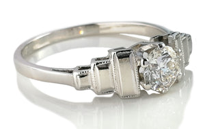 Antique 1930s Art Deco 0.50ct G/VS Diamond Engagement Ring