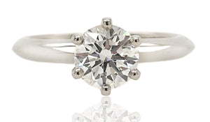 Tiffany & Co. 0.74ct F/VS1 Triple XXX Round Brilliant Diamond Engagement Ring
