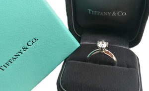 Tiffany & Co. 0.74ct F/VS1 Diamond Engagement Ring in box