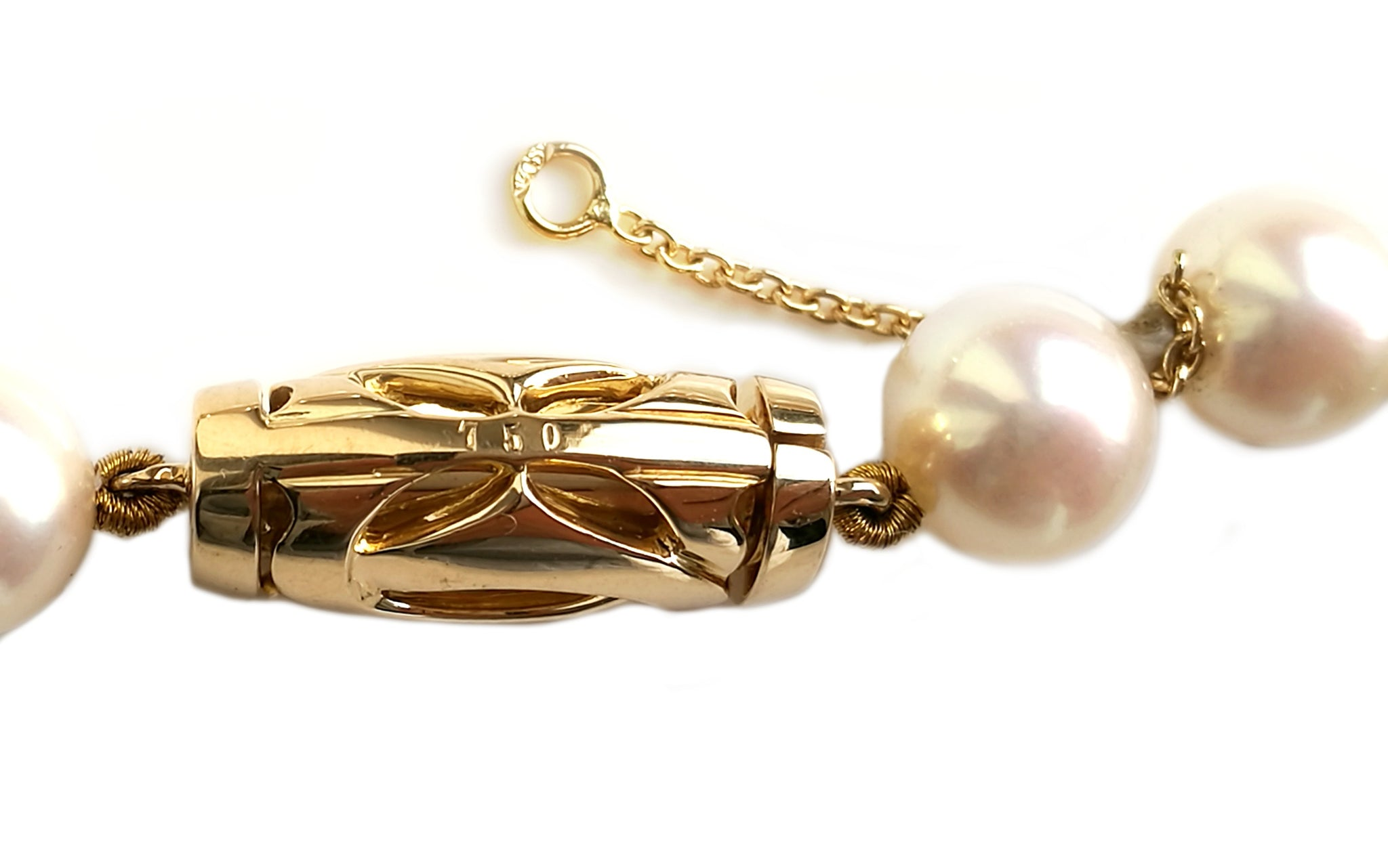 Cartier Akoya Pearl Dolphin Necklace in Tsavorite & 18k Yellow Gold