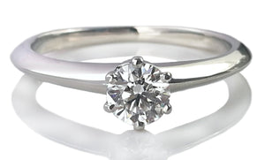 Tiffany & Co. 0.33ct D/VS1 Round Brilliant Diamond Engagement Ring