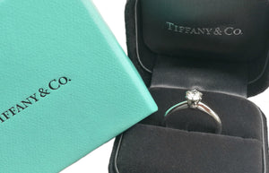Tiffany & Co. 0.40ct H/VVS1 Triple XXX Round Brilliant Diamond Engagement Ring