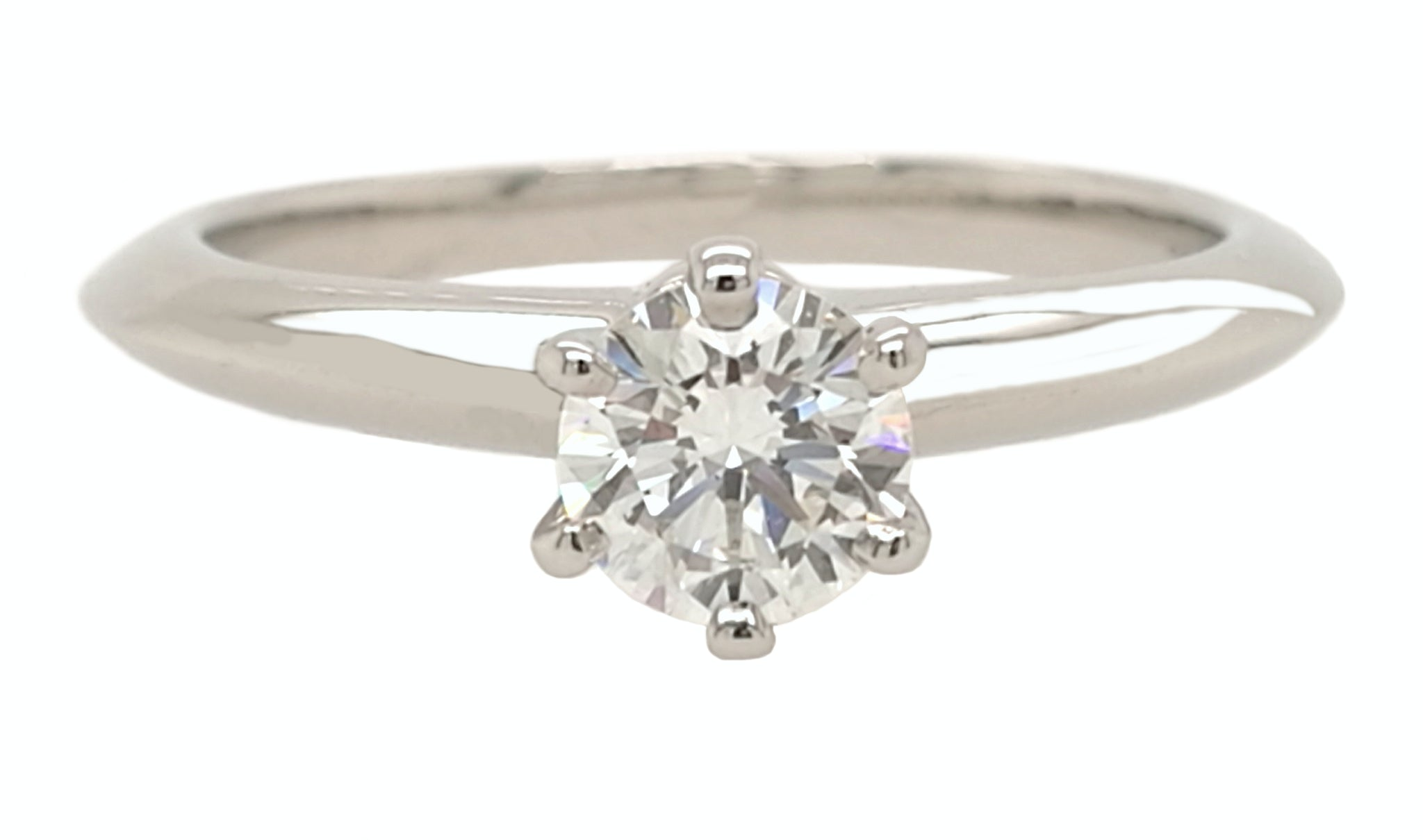 Tiffany & Co. 0.34ct H/VVS1 Round Brilliant Cut Diamond Engagement Ring