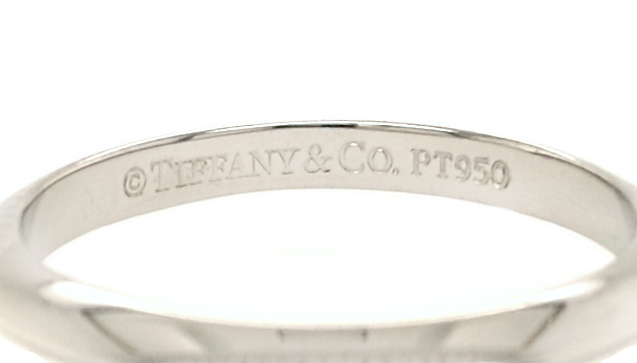 Tiffany & Co Knife Edge Wedding Ring SZ G 1/2