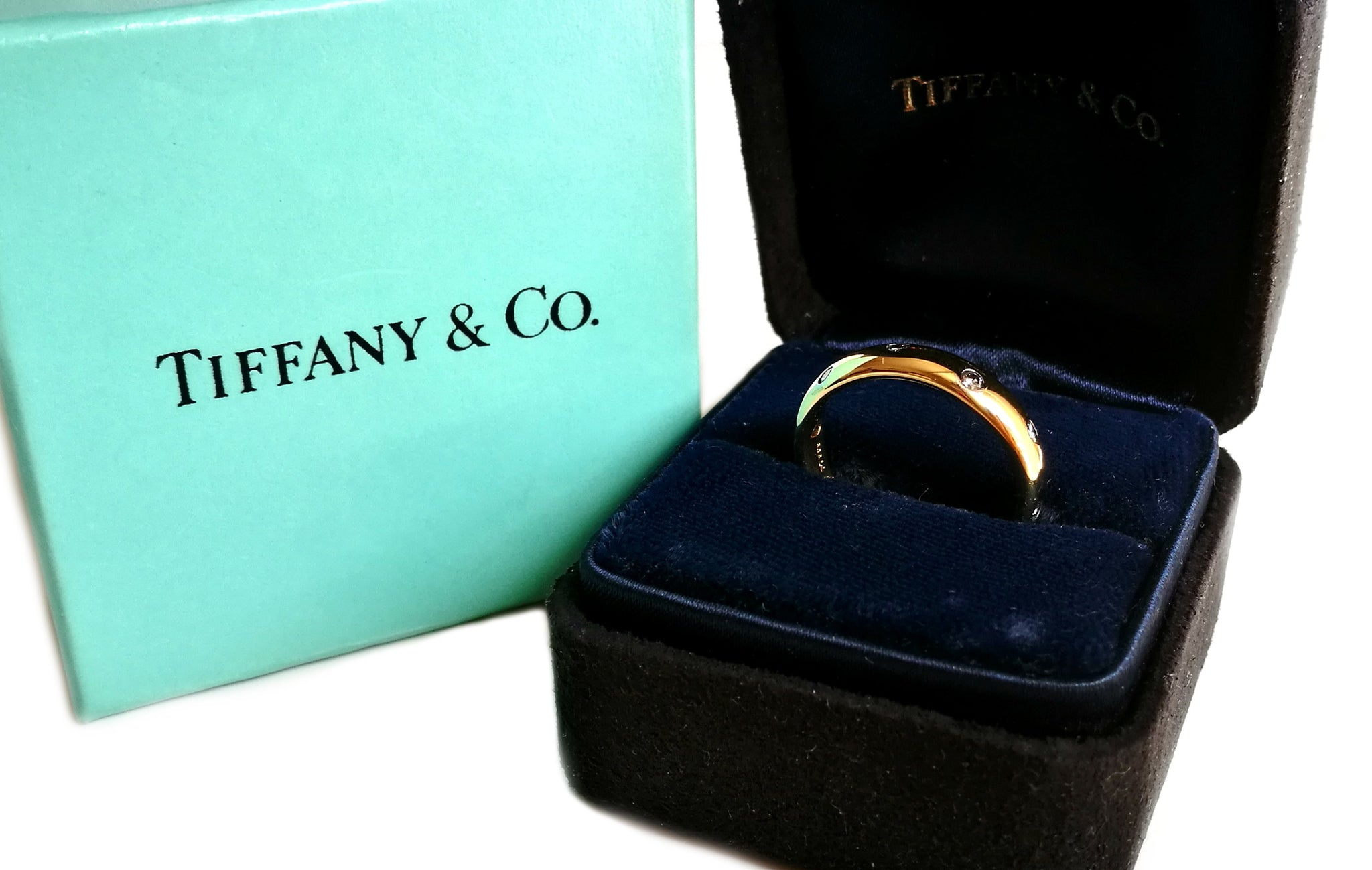 Tiffany & Co Etoile Yellow Gold 4mm Ring SZ L