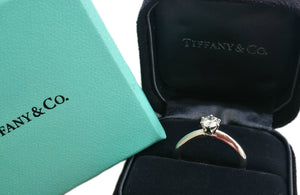 Tiffany & Co. 0.44ct Triple XXX I/VS1 Round Brilliant Engagement Ring