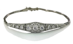 Edwardian 1.07ct Old Cut Diamond Bracelet 6.25in