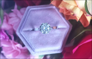 Antique French Ballerine 0.69ct G/SI1 Old Mine Cut Diamond Engagement Ring