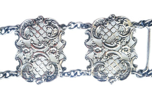 Antique Victorian 1900 Sterling Silver Nurses Belt