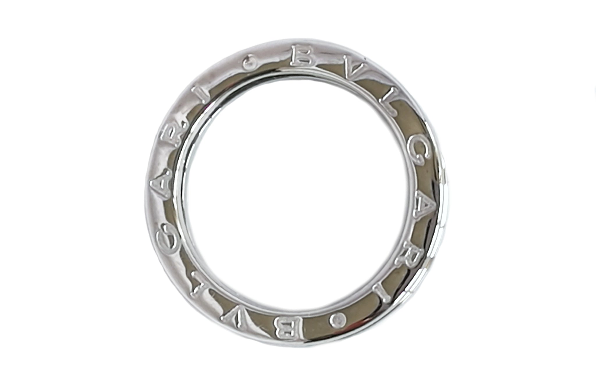 Bulgari Bvlgari Bzero1 Diamond 18k White Gold Ring SZ 51 (L)