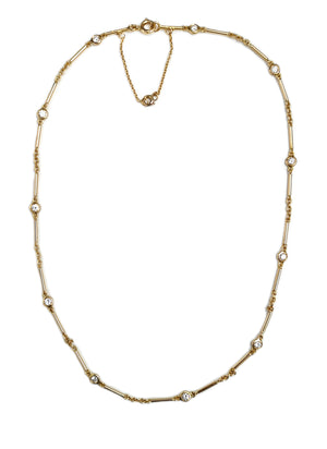 Cartier .66ct Diamond 18k Gold Necklace 15in